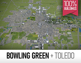 Bowling Green and Toledo - full cities 3D model