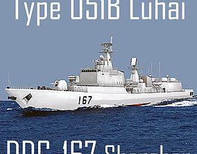 Chinese Navy Type 051B Luhai Class DDG-167 3D asset 2