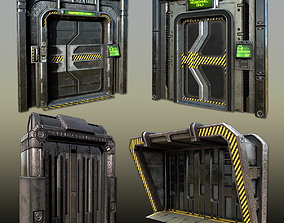 3D model PBR Scif-fi Doorways