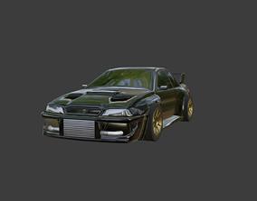 Subaru low-poly 3D asset