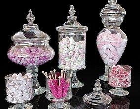 3D Glass Sweet Jars