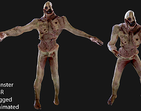Monster 3D model rigged realtime