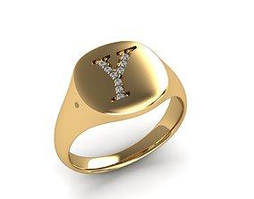 Jewelry Signature Ring 3D print model jewelry