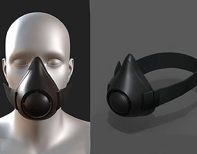 Gas mask isolated protection scifi fantasy 3D model