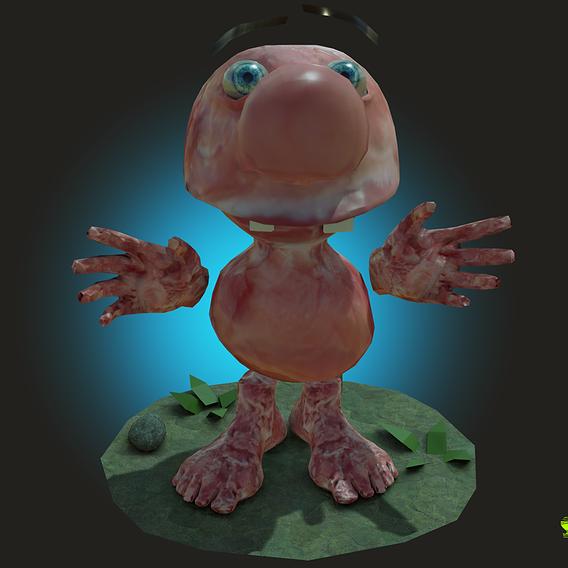 Meet Matthew the Meat Puppet Character Rigged