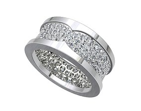 Women Ring Wedding Ring Azurs And Pave 3D print model 2