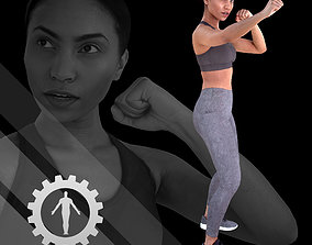 3D asset game-ready Female Scan - Calypso 119