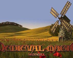 Medieval Windmill 3D