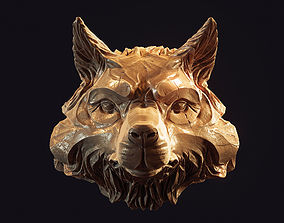boxer Wolf head pendant 3d print model