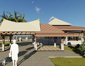coffeeshop Seaside restaurant 3D