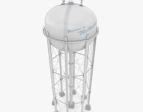 3D model game-ready PBR Water Tower