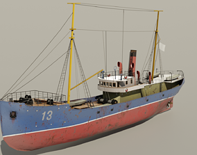 fishing trawler 3D model realtime
