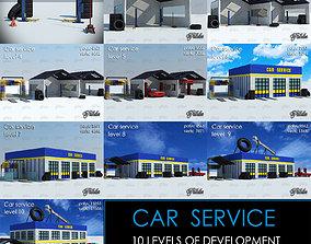 CAR SERVICE all 10 levels 3D asset