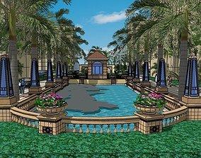landscape for buildings 3D asset