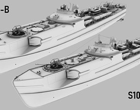 SCHNELLBOOT S38-B and S100 BUNDLE 3D model
