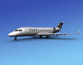 3D model Canadair CRJ100 Lufthansa Cityline