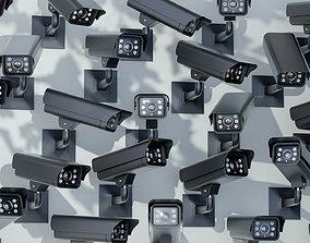 3D model low-poly device CCTV Camera surveillance