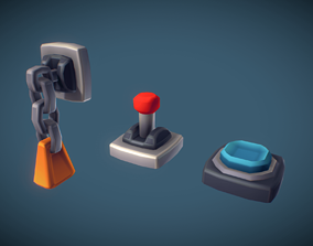 3D model Cube World Switch n Lever - Proto Series
