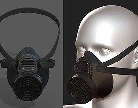 low-poly Gas mask respirator scifi futuristic 3d