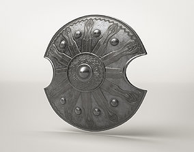 Roman Armor Decorated Shield 3D asset