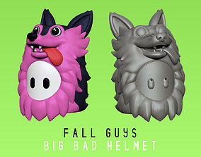 3D print model Fall Guys - Big Bad - Wolf Helmet - Real 1
