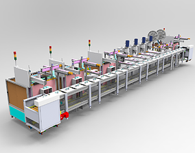 Mobile phone charger automatic assembly line 3D