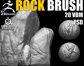 Rock and Stone Brushes for ZBrush 3D model