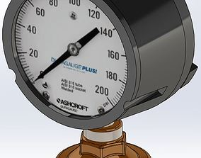 3D model Ashcroft Gauge with isolator