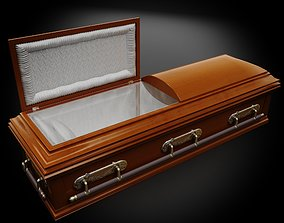 3D High Def Classic Coffin Wood Modern