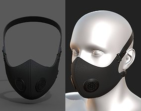 Gas mask protection pollution fantasy scifi 3D model 1