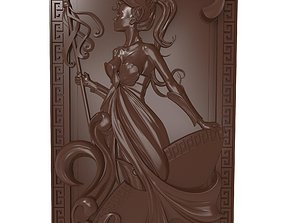3D print model Warrior Girl Bas relief