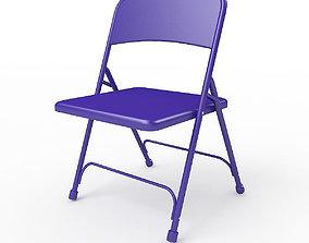3D Metal Folding Chair the