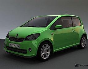 Skoda Citigo 3 doors 2012 3D