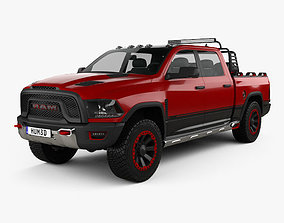 3D model Dodge Ram 1500 Rebel TRX 2017