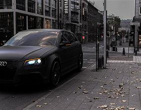 Audi A3 Sline modified package 3D asset