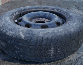 low-poly 3D scanned tires