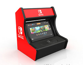 Nintendo switch arcade stand 3D printable model
