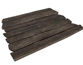 3D asset Old planks