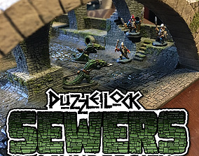 3D print model PuzzleLock Sewers and Undercity