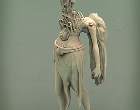 art creepy 3d model with a parasite for printing