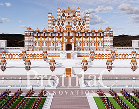 3D model indian jharokha palace