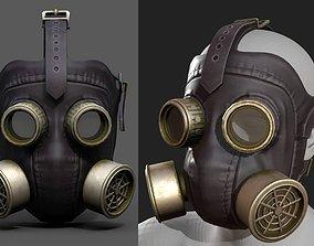 Gas mask helmet 3d model military combat realtime 1