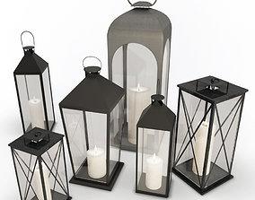 3D Metallic Lanterns