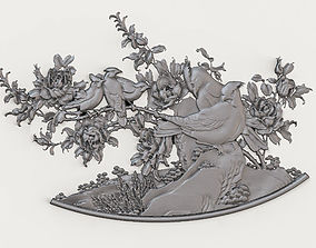 Decorative Bas-relief 3D model Dec013