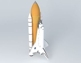 Space Shuttle Discovery 3D model space