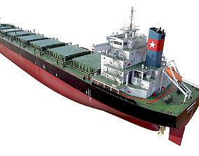 3D Bulk carrier Black