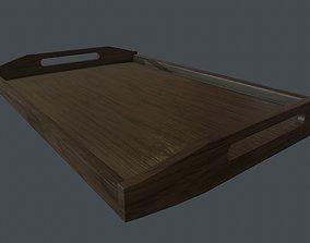 Wooden tray 3D asset