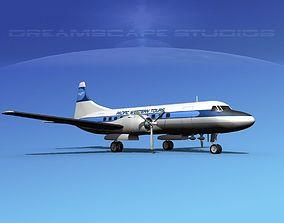 Convair CV-340 Pacific Western Tours 3D model
