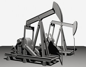 Oil Field Pump Jack 3D