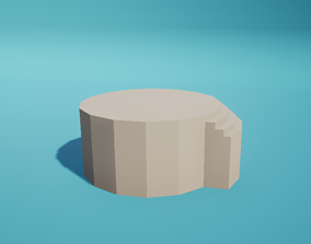 3D asset Altar Stairs